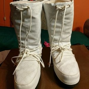 Gucci Shoes - GUCCI White Snow Boots